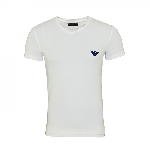 Emporio Armani T-Shirt V-Neck 110810 9P523 00010 weiß FS19-EAT1