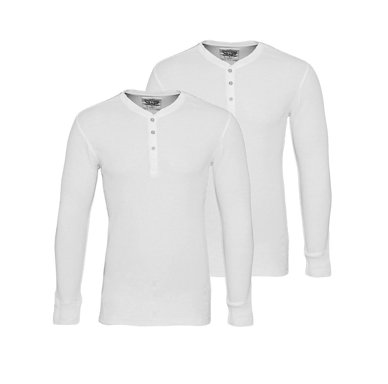 LEVIS Shirts 2er Pack Henley Longsleeve 961023001 300 White SF17-LVLV2