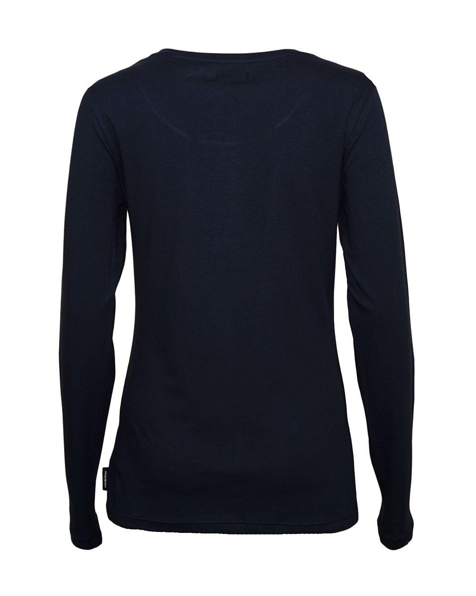 Emporio Armani Damen Shirt Longsleeve Rundhals 163378 7A263 00020 NERO HW17-EADL