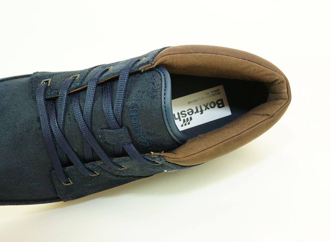 Boxfresh Schnürschuhe Schuhe Cluff UH WXD E-14837 Navy Dunkelbraun Sneaker SH17-BFS1