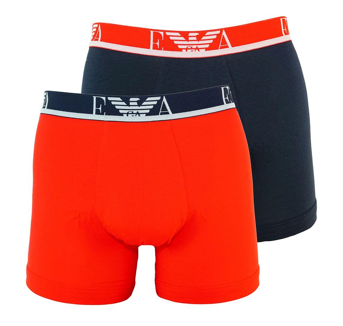 Emporio Armani 2er Pack Boxershorts Unterhosen ROSSO/MARINE 111268 7P715 09674 WF17-EAB1
