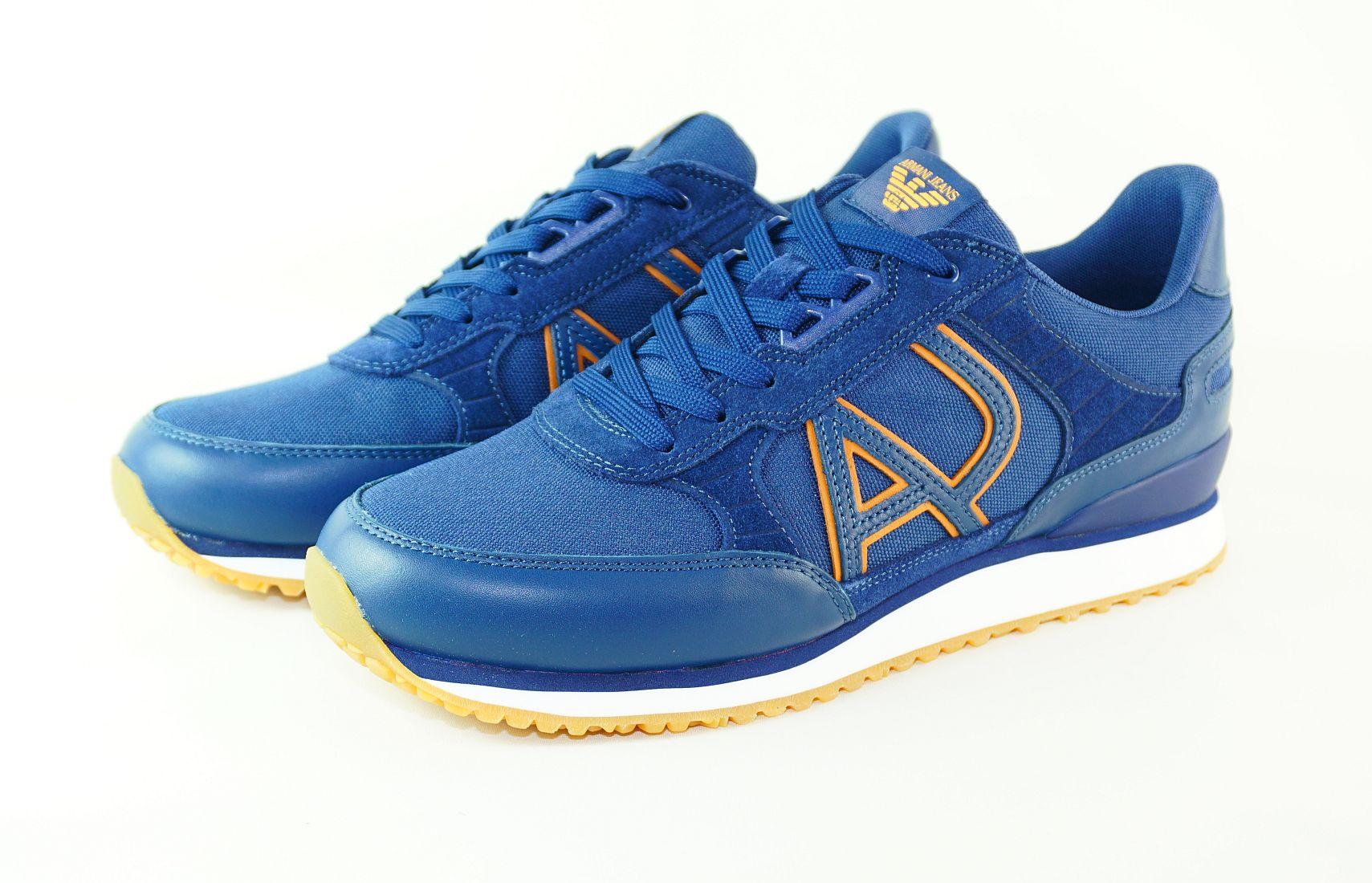 Armani Jeans Schnürschuhe SNEAKER LOW CUT 935028 7P424 40835 Blue blau S17-AJS1
