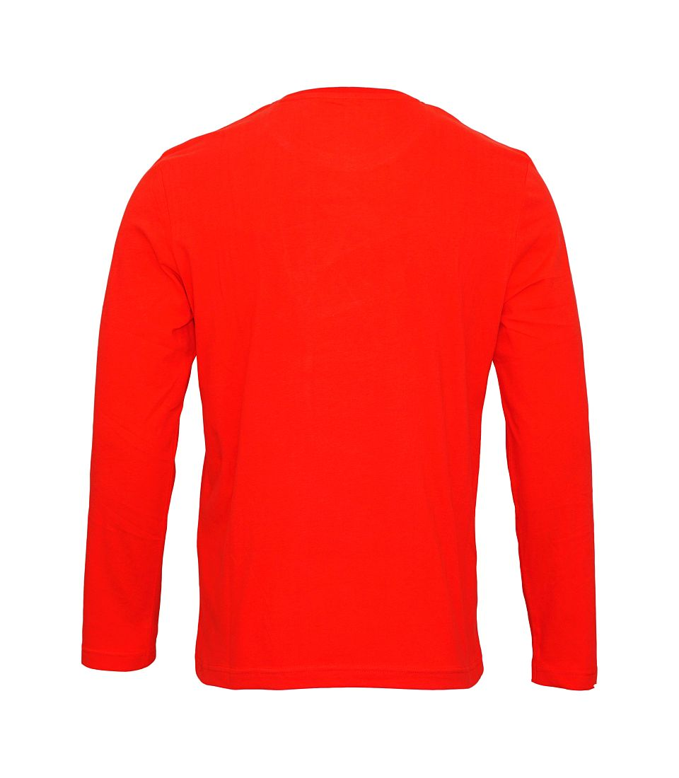 Tom Tailor Longsleeve Shirt Logoprint sun bleached red 1038210 0010 4500 WF17-J1