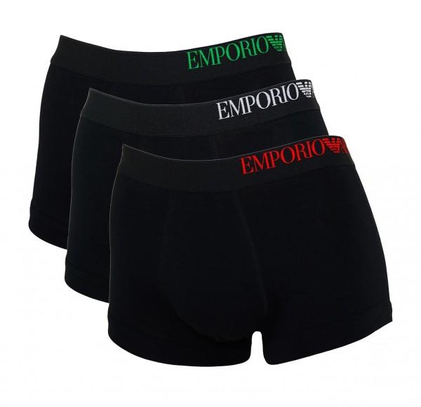 Emporio Armani 3er Pack Trunk Unterhosen 111357 CS713 21320 black SS19-EAB1