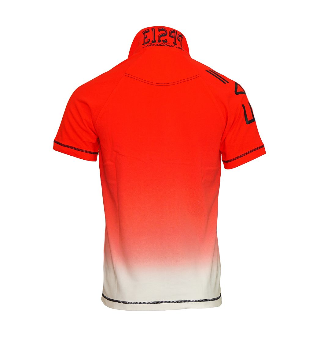 EA7 EMPORIO ARMANI Shirt T-Shirt Poloshirt MAN'S KNIT POLO rot, weiss 273934 6P688 00074