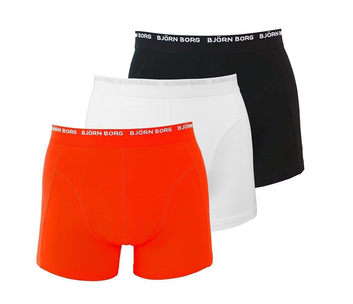 Björn Borg 3er Pack Shorts Boxershorts Unterhosen 999800 108023 40011 schwarz rot weiss gp