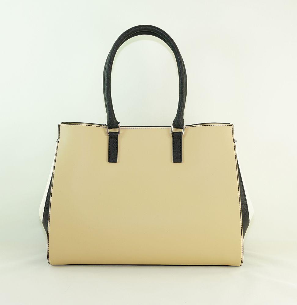 Armani Jeans Tasche Borsa Shopping Asburgo 922228 7P758 13155 Beige Nreo Bia Handtasche S17-AJT1