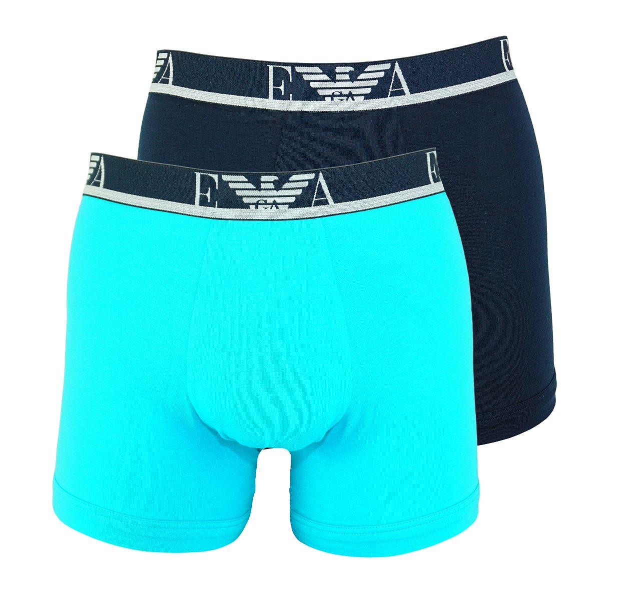 Emporio Armani 2er Pack Shorts Boxer Unterhose 111268 8P715 12683 TURCHESE/MARINE W18-EAB1