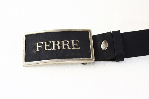 Gianfranco Ferre Ledergürtel Leder Gürtel 91021704 schwarz 110 cm
