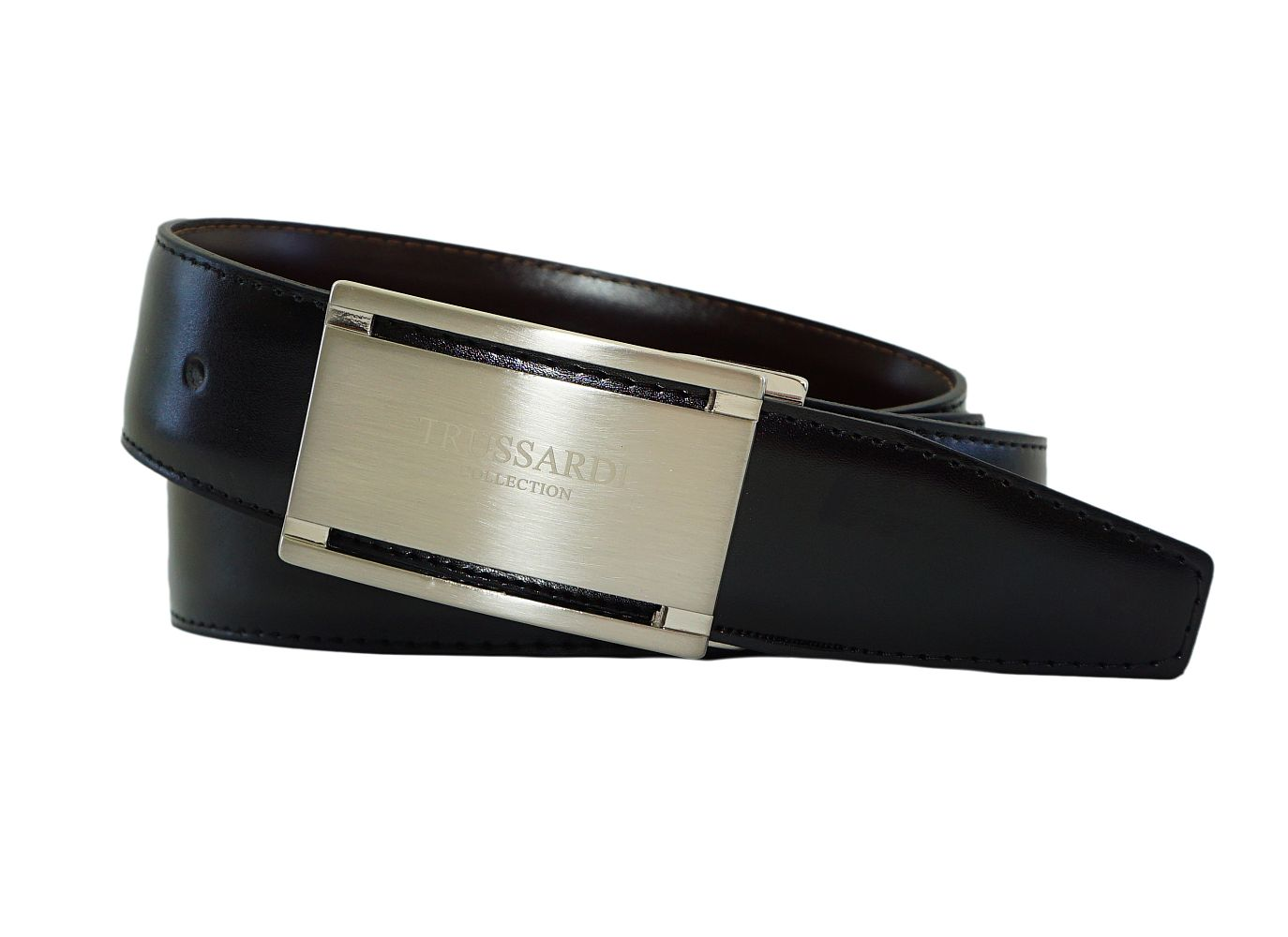 Trussardi Gürtel Ledergürtel bis 125 cm verstellbar mit Metallschließe U31TRC00037