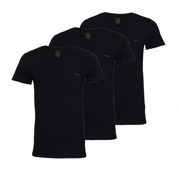 Diesel 3er Pack T-Shirts Michael V-Neck OJAQX 900 schwarz SS19-DS1