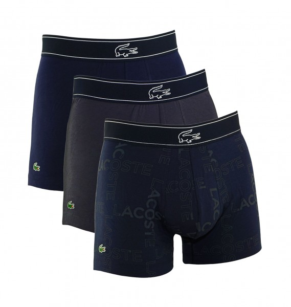 Lacoste 3er Pack Trunk Shorts 169571 901 navy, grey HW19-LC1