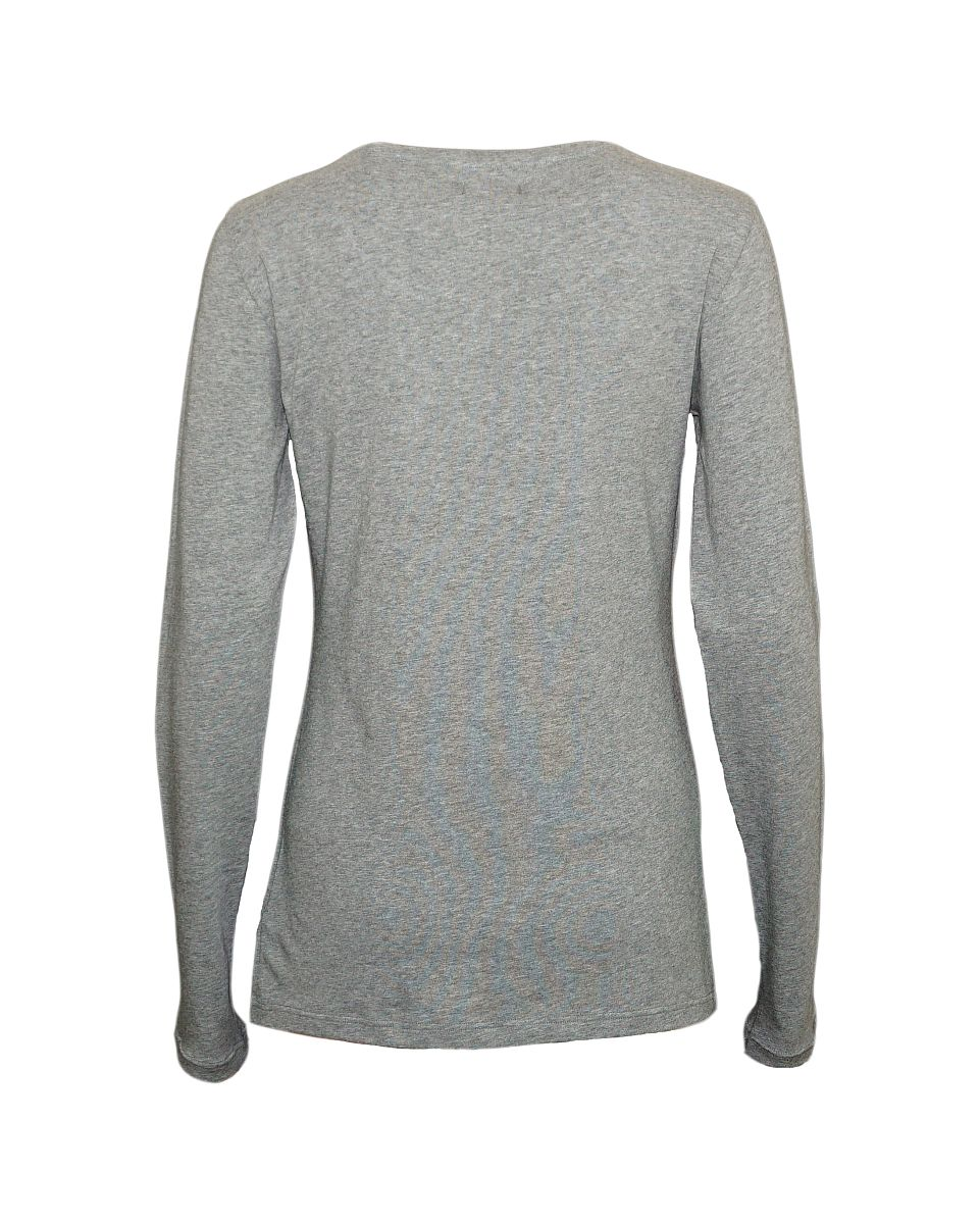 Emporio Armani Damen Shirt Longsleeve Rundhals 163378 7A263 06749 GRIGIO MELANGE SCURO HW17-EADL