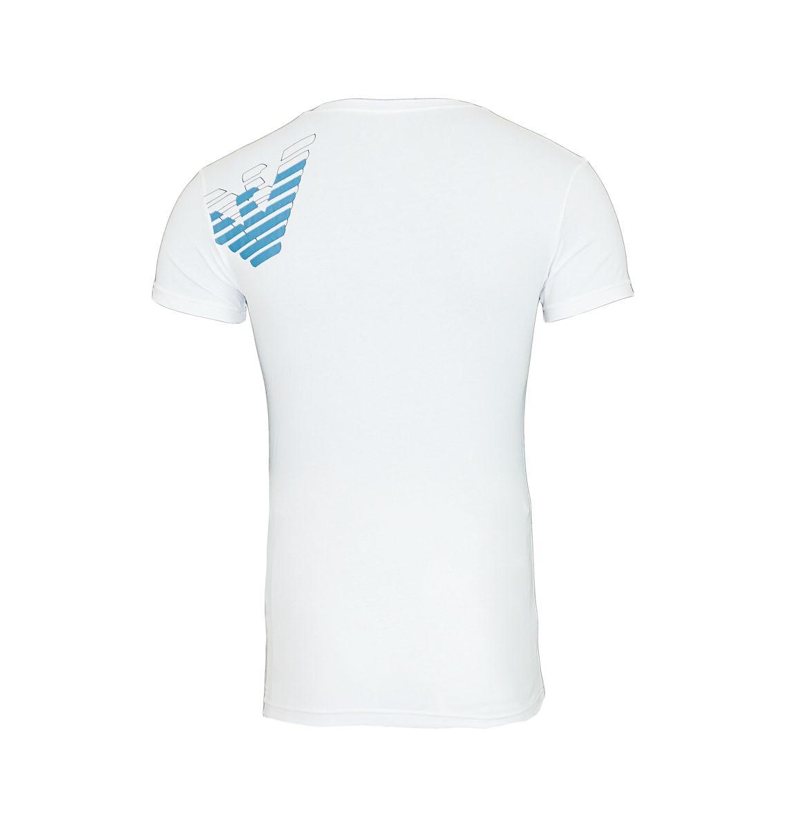 Emporio Armani T-Shirt Shirt V-Ausschnitt 110810 7A725 00010 BIANCO HW17-EATS1