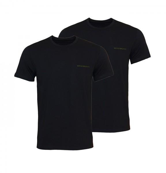 Emporio Armani 2er Pack T-Shirts R-Neck 111267 0A717 17020 black HW20-AR1