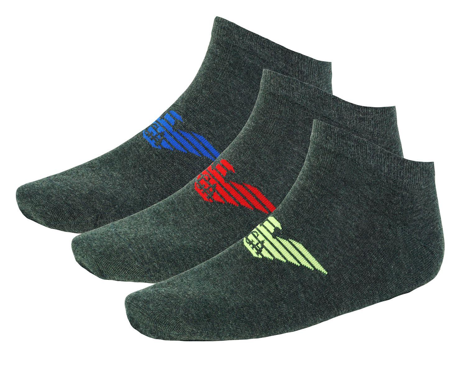 Emporio Armani 3er Pack Strümpfe Socken 8929BX Calza Inside 300008 7A234 00349 HW17-EAX1