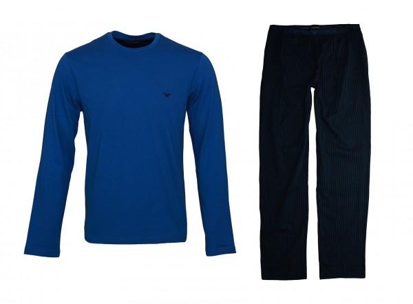 Emporio Armani Pyjama Shirt + Hose 111791 9P567 57635 RIGA MARINE SS19-EAL1