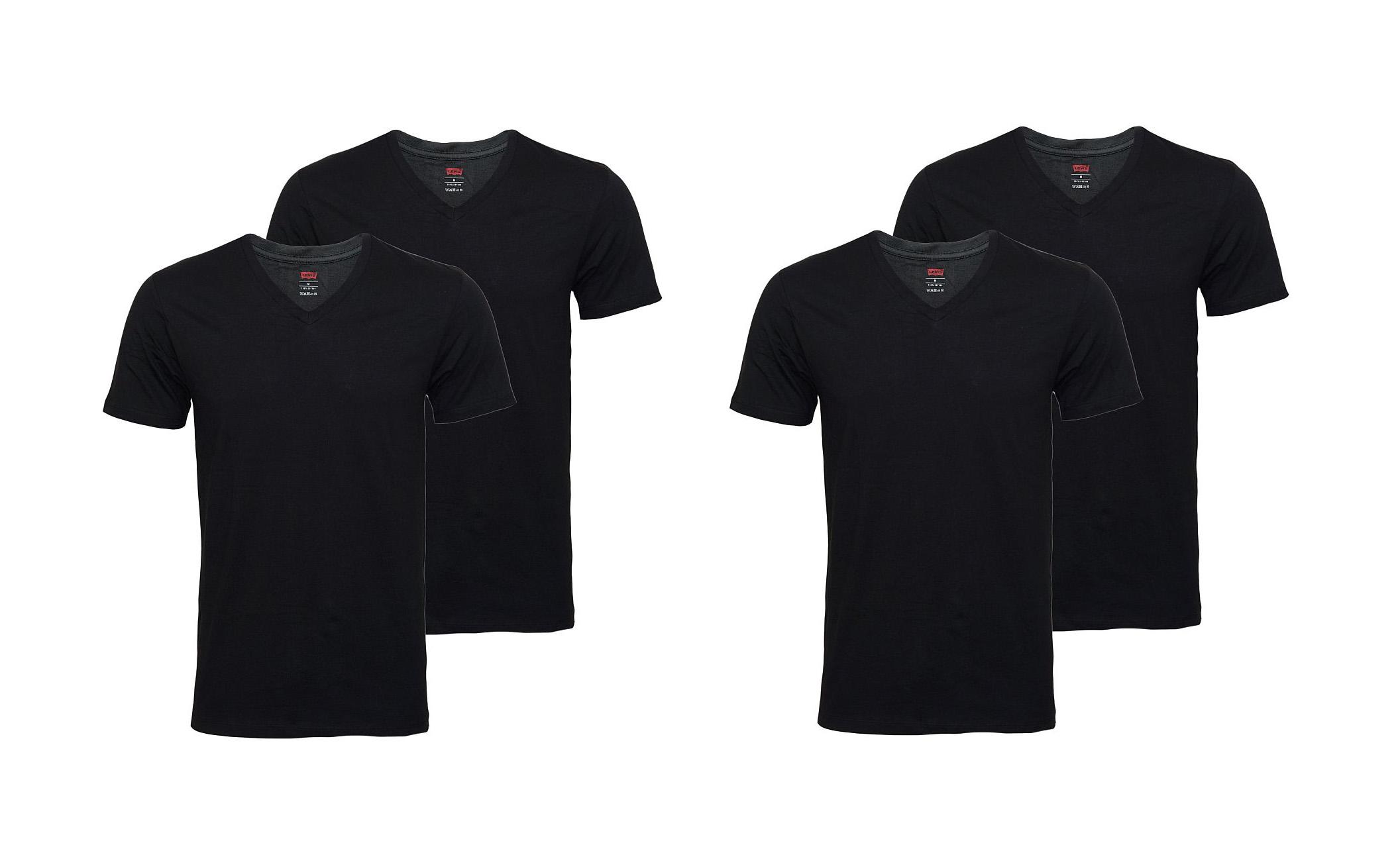 LEVIS Shirts 200SF 2 x 2er Pack T-Shirt 945004001 884 Jet Black SF17-LVSS2