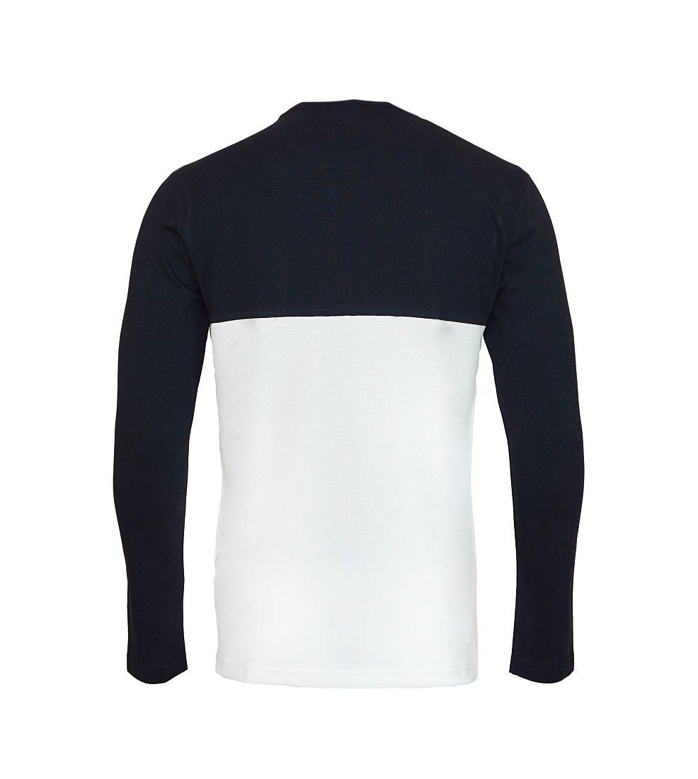 EA7 Emporio Armani Shirt Polo Longsleeve 6XPTC8 PJ32Z 22BA black white HW16P1