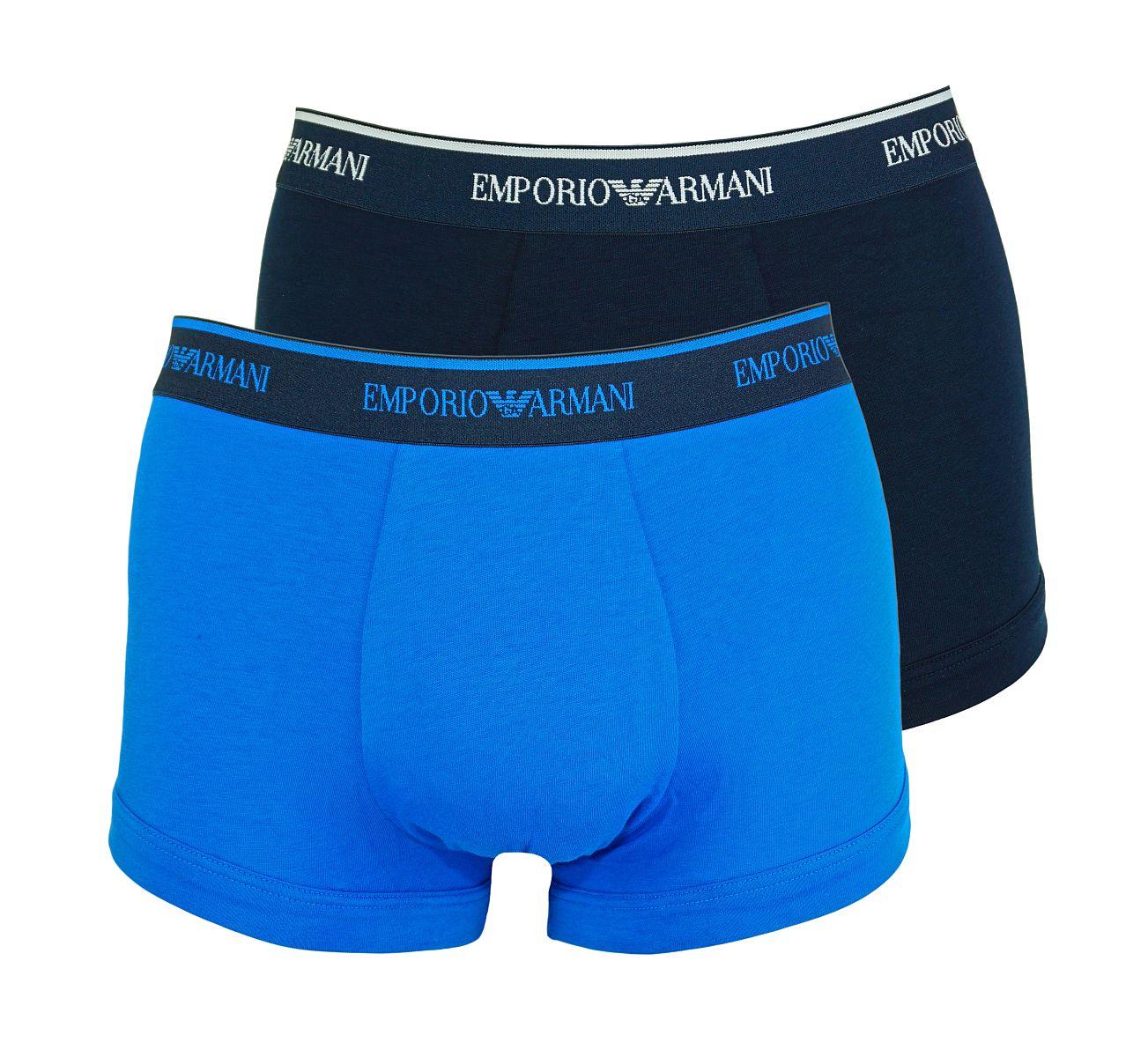 Emporio Armani 2er Pack Shorts Trunk Unterhose 111210 8P717 18735 MARINE/CIELO W18-EAT1