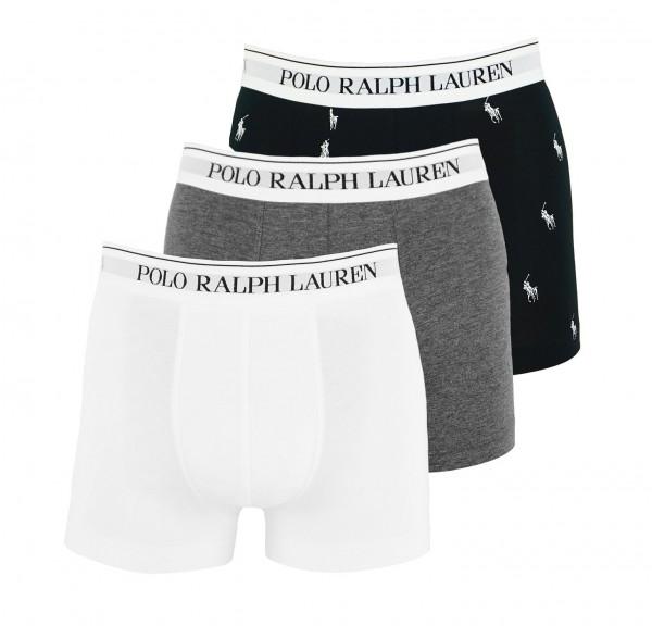 Ralph Lauren 3er Pack Trunks Classic 71466205 0053 black, grey, white WF20-RL1