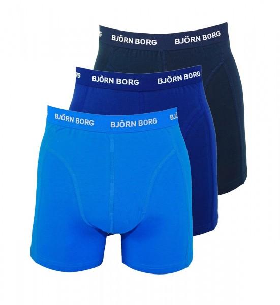 Björn Borg 3er Pack Boxershorts Unterhosen 9999-1024 71191 blau multicolor W19-BBS1