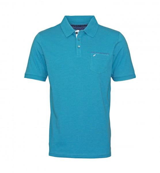 Daniel Hechter Polo Poloshirt 75022 191914 610 turquoise WF19-DHP1