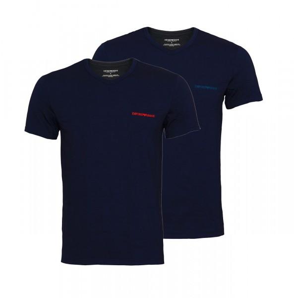 Emporio Armani 2er Pack T-Shirt V-Neck 111849 9A717 27435 navy SH19-EAX1